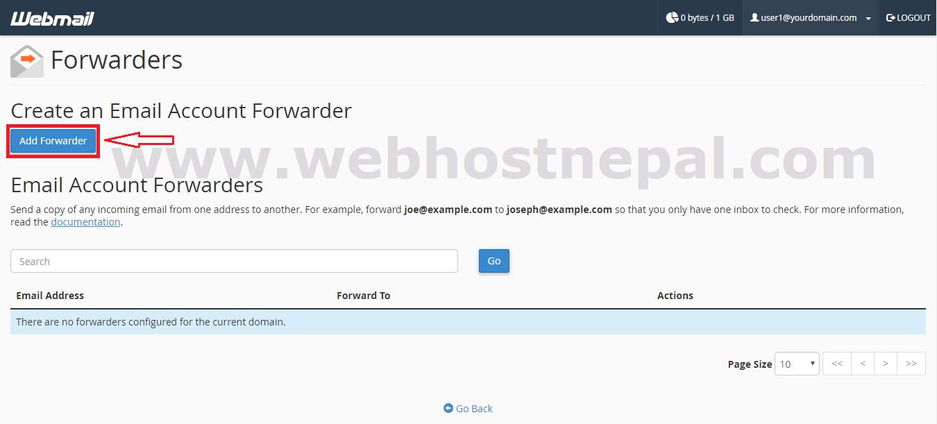 add Forwarder